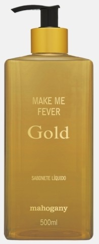 SABONETE LIQUIDO MAKE ME FEVER GOLD 500ML